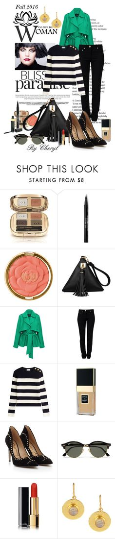"""""""Untitled #1926"""" by cheryl-astablewoman ❤ liked on Polyvore featuring Dolce&Gabbana, Trish McEvoy, Milani, Paper London, Moschino, RED Valentino, Chanel, Sam Edelman, Ray-Ban and Feather & Stone"""
