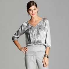 Grey expectations  #whbm. Lovely. What would you use to accessorize? #esbeDesigns esbedesigns.com.