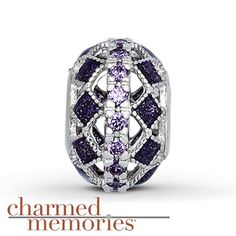 Charmed Memories Purple Cathedral Charm Sterling Silver