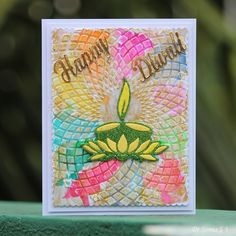 Cards ,Crafts ,Kids Projects: Handmade Diwali Card – 37 super easy diy christmas crafts ideas for best and easy rangoli designs for diwali festival part up karte neujahr frohes neues jahr happy new… Recycled Crafts, Diy And Crafts, Crafts For Kids, Card Crafts, Cue Cards, Pop Up Cards, Cards Diy, Diwali Greeting Cards, Diwali Greetings