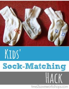 Cute hack for matching up the kids' socks when they all look exactly the same :)