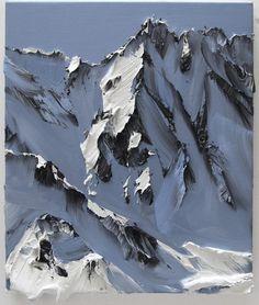 'sol 9' (2012) by Swiss painter Conrad Jon Godly (b.1962). Oil on canvas, 47 x 40 cm. via the artist's site
