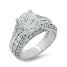 White Gold Semi-Mount Diamond Engagement Ring with Channel Setting and Milgrain 63375C.  Call Martin Jewelry at Westroads Mall in Omaha, NE. for more details.  402-397-3771.