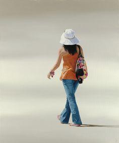 Artist's website, photo-realistic, minimalist, figurative oil paintings on linen by Nigel Cox