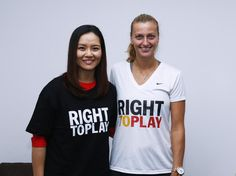 Li Na and I are proud @RightToPlayIntl  Athlete Ambassadors—because play teaches kids skills to overcome adversity