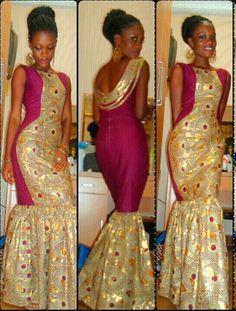 Mermaid ankara gown #africanfashion #africanlongdress #ankarafashion