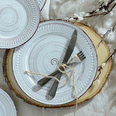 Cosenza Cream Dinner Plate