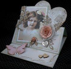 Cobie's kaarten: Easel/Vintage kaart