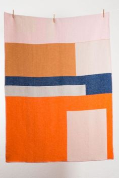 Bauhaused 2 Wool Blanket by Michele Rondelli & Sophie Probst, $200; zigzagzurich.com.