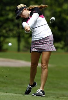 Sydnee Michaels Photos - Sydnee Michaels of USA plays her shot on the hole during day one of the Sime Darby LPGA Malaysia at Kuala Lumpur Golf & Country Club on October 2012 in Kuala Lumpur, Malaysia. Cheyenne Woods, Lpga, Great Women, Golf Outfit, Ladies Golf, Kuala Lumpur, Golf Tips, Golf Clubs, Plays