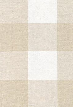 New England Cotton Check Fabric -- Neutral and off white large gingham check
