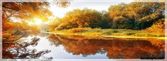Autumn Lake Scene Facebook Cover