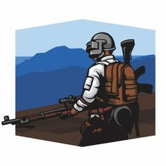 Sniper in a mountain vector Premium Vect. Gaming Wallpapers, Cute Wallpapers, Ford Mustang Wallpaper, One Piece Logo, Game Logo Design, My Collection, Logo Nasa, Vector Free, Cartoon