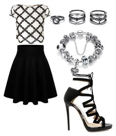 """""""Untitled #137"""" by princesssheryl1 on Polyvore featuring Lipsy, Jimmy Choo and LULUS"""