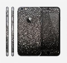 The Black Unfocused Sparkle Skin for the Apple iPhone 6 Design Skinz