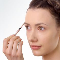 When using our Retractable Brow Pencil,s brush with the spoolie brush, apply the pencil and blend with the brush again for optimal color, shape and volume. Beauty Makeup Tips, Beauty Skin, Beauty Hacks, Beauty Quote Tattoos, Beauty Quotes, Eyebrow Pencil, Eyebrow Makeup, Makeup Eyebrows, Beauty Salon Decor