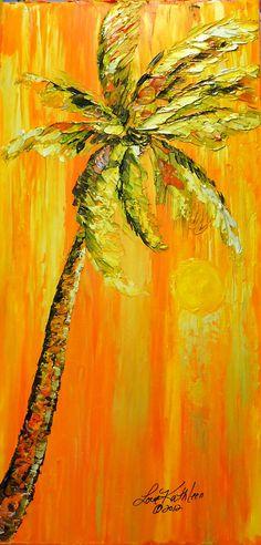 Impasto ~ palm tree painting