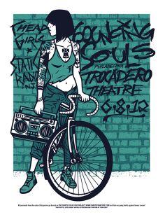 The Bouncing Souls – Comet Series | El Jefe Design #concert #poster #nofx