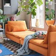A fashionable living room with flexible furniture - IKEA CA Living Room Plan, Ikea Living Room, Living Room Update, Living Room Furniture, Living Room Designs, Flexible Furniture, Interior Ikea, Colourful Living Room, Lounge