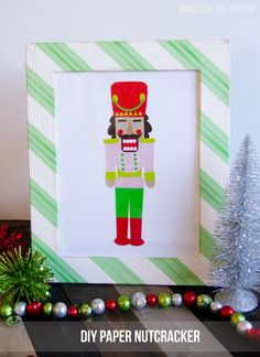 Easy Christmas Crafts:: A DIY Paper Nutcracker