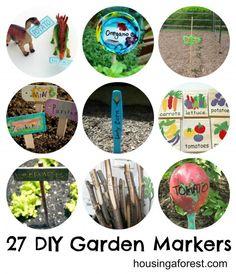 27 DIY Garden Markers - Housing a Forest