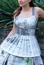 Design Dress Tutorial how to make a newspaper dress