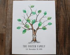 Make a record of all of your visitors and guests in style! This naturally drawn pine tree is a beautiful way to leave an impression. The tree is drawn with plenty of space for guests signatures to fill into the branches, creating the look of pine needles. Interactive, creative and a beautiful keepsake for you to have for years to come!  Great for housewarming, hostess gift, celebrations and weddings and no one has to get their fingers dirty. This one-size-fits-all design is great for any…