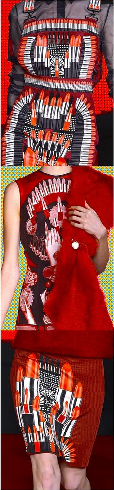Holly Fulton a/w 2013. Can't get enough of her lipstick prints. Gorgeous...