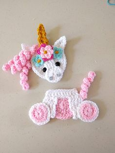 Very heavily modified based on picture sent by customer. NEEDS NOTES * * Crochet Unicorn Blanket, Crochet Unicorn Pattern Free, Crochet Applique Patterns Free, Crochet Mask, Crochet Animal Patterns, Crochet Patterns For Beginners, Crochet Motif, Crochet Sunflower, Crochet Flowers