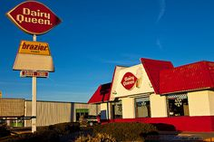 Here's a Dairy Queen similar to the one in Jaded, except mine has windows solid across the front and sides. Those windows are crucial to the plot. #JadedBook