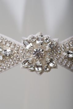 The Vienna wedding garter by La Gartier Custom Garters. Designed for the most glamourous of brides. Now available for purchase on the website at www.lagartier.com #garter #weddinggarter #bridalgarter