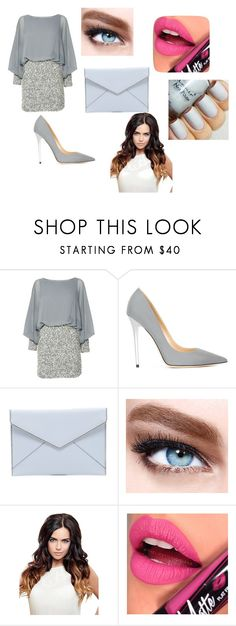 """""""Happy New Year"""" by mrsemilystyles4everandever on Polyvore featuring Lace & Beads, Jimmy Choo, Rebecca Minkoff, Maybelline and Fiebiger"""