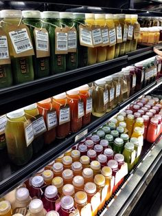 Not a recipe but delicious ... Cold pressed juices at Erewhon