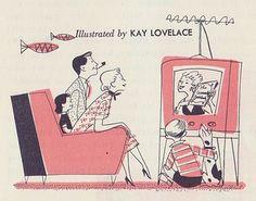The Cassserole Cookbook illustrated by Kay Lovelace. Retro Cartoons, Retro Ads, Vintage Cartoon, Vintage Ads, Vintage Illustration Art, Graphic Illustration, Retro Illustrations, Retro Images, Pulp