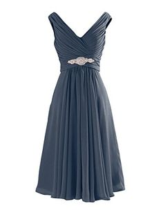 Yougao Women's V Neck A-Line Knee Length Chiffon Dresses US 12 Steel Yougao http://www.amazon.com/dp/B00Z0DV2KO/ref=cm_sw_r_pi_dp_pXKHvb0E9Z57F