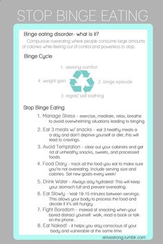 strivestrong: Stop Binge Eating! - Simple steps and tips on how to stop yourself from binging. A lot of these contributed to my successful weight loss. - Kian @ strivestrong.tumb...