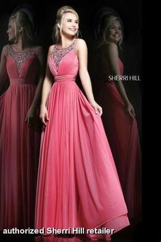 Sherri Hill - 1552 in coral, light blue and lilac at Estelle's Dressy Dresses!