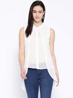 #Ada #handembroidered White #Cotton #Lucknow #Chikan #Top– A100234 - #AdaChikan