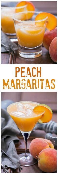 Fresh Peach Margaritas – Using peak of the season peaches, these margaritas are … - cocktail Mezcal Cocktails, Sangria, Easy Cocktails, Cocktail Drinks, Cocktails 2018, Sweet Cocktails, Margarita Cocktail, Cocktail Parties, Milk Shakes