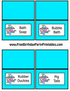 Piggy In Bathtub With Rubber Ducky Food Card Template by Free Birthday Party Printables Bath Soap, Bubble Bath, Rubber Duckies, Pig Tails.png (2550×3300) #pig #birthday #party #piggy #bubble #bath