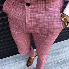 Men's Pure Color High Waist Casual Pencil Pants – smpermen – Men's style, accessories, mens fashion trends 2020 Mens Plaid Pants, Khaki Pants, African Men Fashion, Mens Fashion, Fashion Trends, Mens White Dress Shirt, Mens Clothing Styles, Couture, Fashion Pants