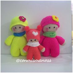 Amigurumi Pattern PDF Menta, Cereza and Miel