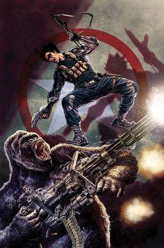 Soldado Invernal vs. O Homem Gorila.