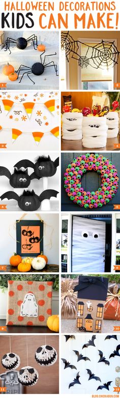 Halloween decorations kids can make! Easy, fun, and CUTE decorations that kids can make and you'll love displaying. | The Chickabug Blog
