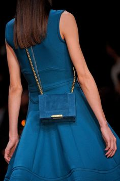 I just love the color of this dress and bag! Elie Saab, 2013.