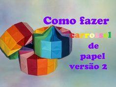 COMO FAZER CARROSSEL DE PAPEL VERSÃO 2 - YouTube