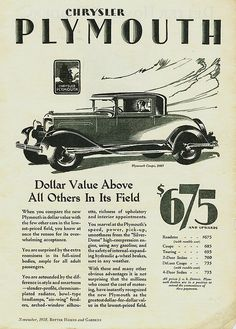 On June 7, 1928, Chrysler produced the first Plymouth car.