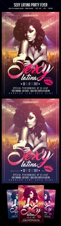 Sexy Latina Party Flyer
