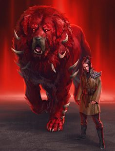 Meng Hao and the Blood Mastiff by Gama. From the xianxia novel I Shall Seal the Heavens
