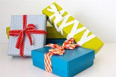 TUTORIAL: DIY Fabric Ribbon and Repurposed gift-wrap ideas
